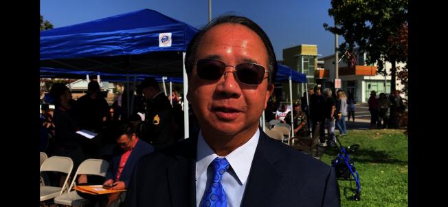 蒙市市議員陳贊新。 (記者王子銘/攝影)