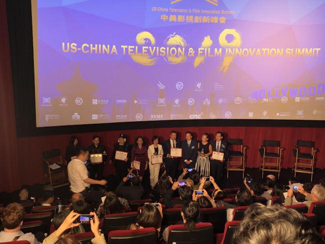中美影視創新峰會11月10日在洛杉磯TCL中國劇院開幕。(記者金維多╱攝影)