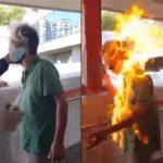 反送中示威失控/他罵「不是中國人」竟被火燒