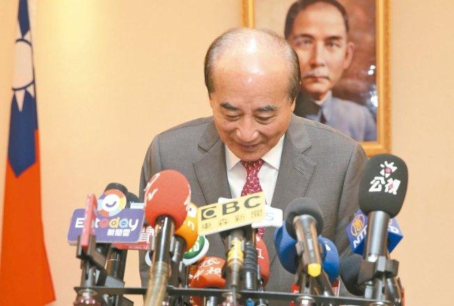 國民黨立委、立法院前院長王金平昨舉行記者會,遺憾表示在參選總統路上,沒取得最後機會。 記者曾吉松/攝影