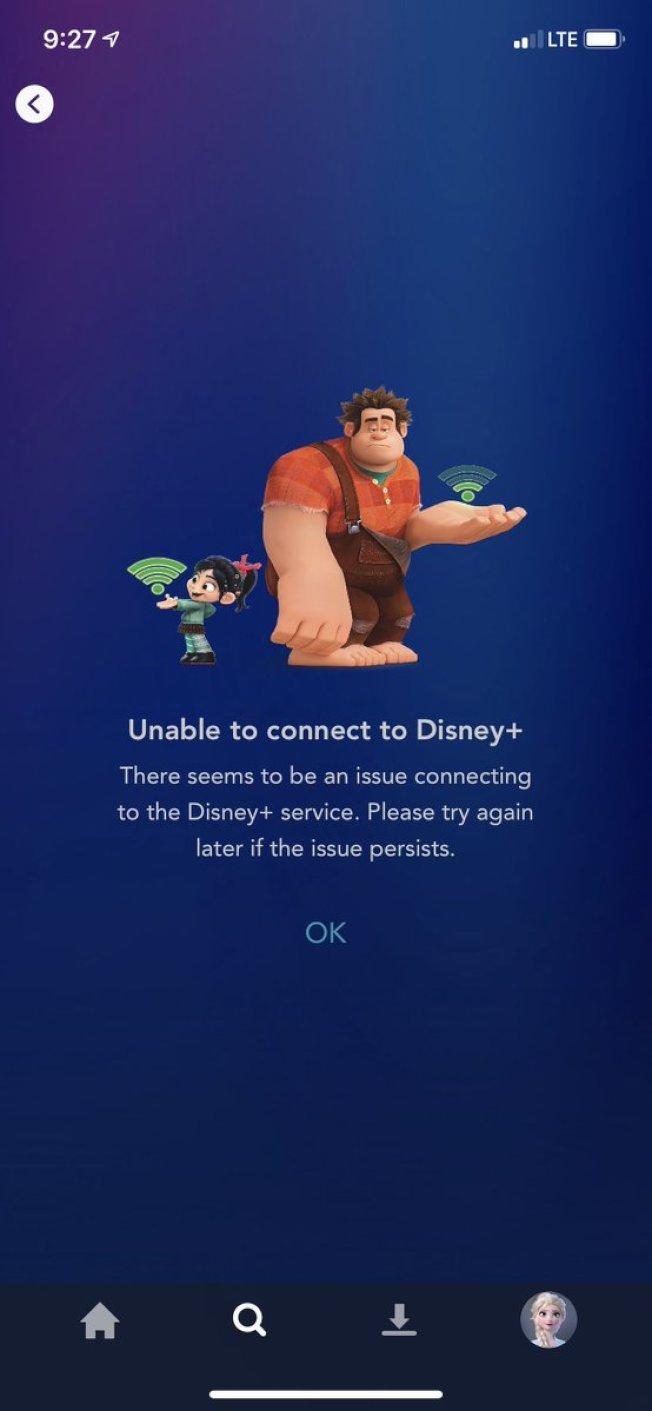 但上線第一天也有不少用戶遭遇了技術問題而無法登陸,迪士尼稱用戶超出預期。平台僅限北美,亞洲目前無法使用。 (迪士尼圖片)