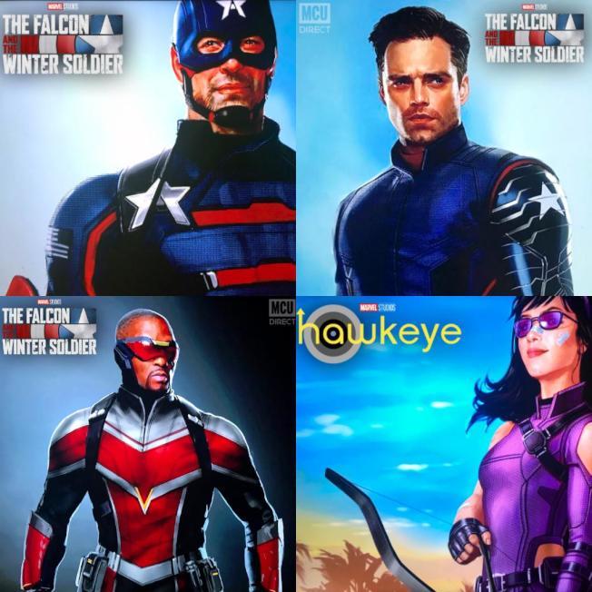 漫威通過Disney+這個平台發佈全新Disney+劇集角色造型 (迪士尼圖片)