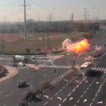 加薩報復以色列!50火箭回擊險轟中車輛