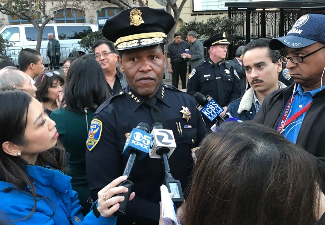 警察局長史考特向媒體說,警方已針對嫌犯駕駛的汽車調查找尋破案線索。(記者李秀蘭/攝影)