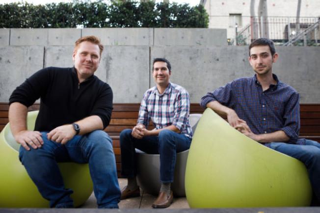Main Street的三名創辦人都是前Google員工,最左邊是執行長洛德羅(Doug Ludlow)。(取材自推特)