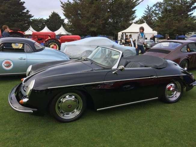 這輛價值20萬元的1960年保時捷跑車,周末在東灣的車展中被人偷走。(取自推特)
