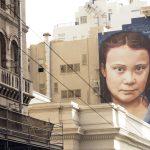 瑞典環保小鬥士桑柏格巨大壁畫 亮相舊金山