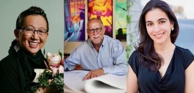 2020年玫瑰花車獎評審委員公布,Hitomi Gilliam(左起)、Phil Hettema、Lilit Khatchaturian。(玫瑰花車委員會提供)