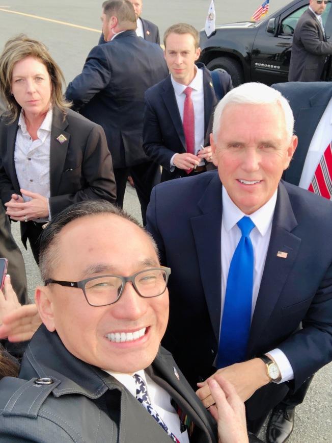 潘斯訪灣區 加州共和黨副主席郭宗政喜迎