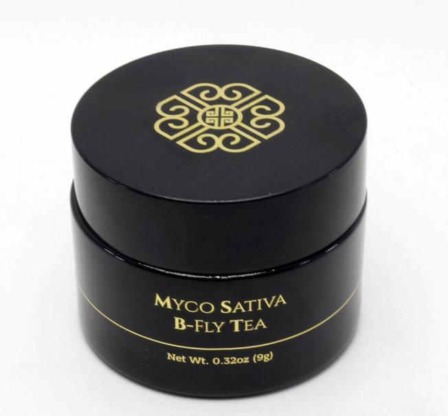 B-fly 茶是一款會變顏色的美顏保健茶。(Myco Sativa提供)
