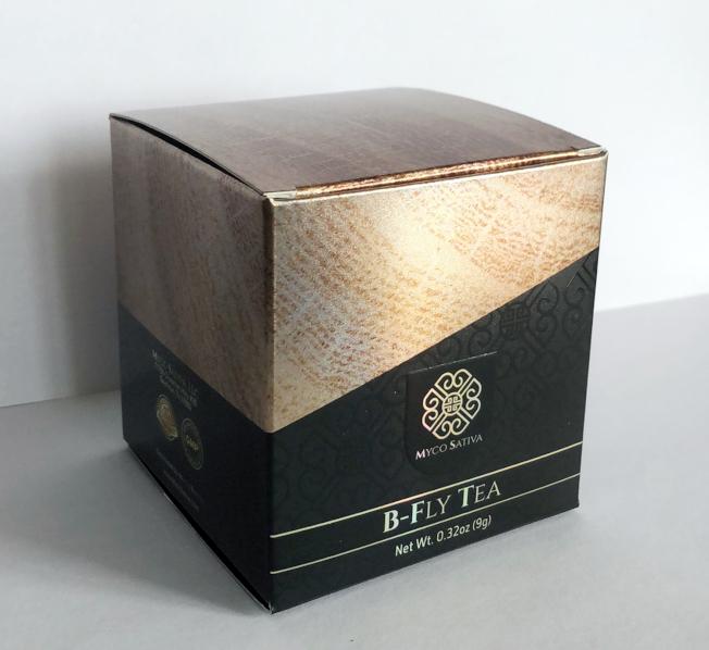 最新推出的Myco Sativa系列保健產品「B-fly 茶」。(Myco Sativa提供)