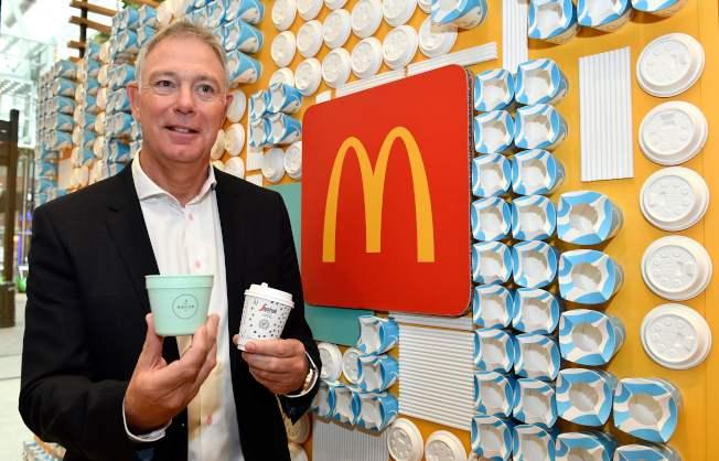 麥當勞主管永續事務副總裁肯尼(Keith Kenny,圖)說:「我們的目標是在2025年以前所有包材來自可再生資源。另一個目標則是在2025年以前在我們全球3萬7000間店,全面落實回收政策。」Getty Images