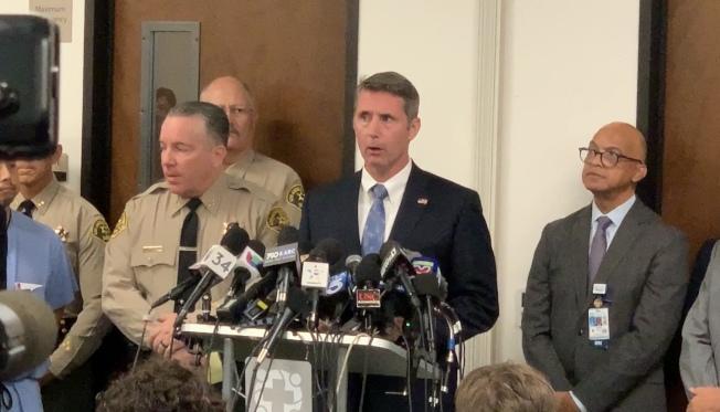 聯邦調查局(FBI)洛杉磯辦公室副主任Paul Delacourt。(記者王子銘/攝影)