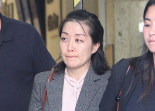 被控殺人的華裔富家女李薇出庭的資料照片。(記者李晗 / 攝影)