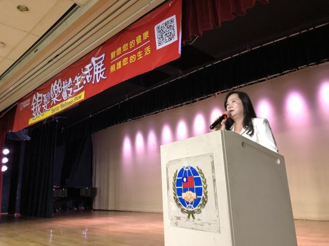 Annie Yu主講「SSI與Medi-Cal相關的政府福利」。(記者李雪/攝影)