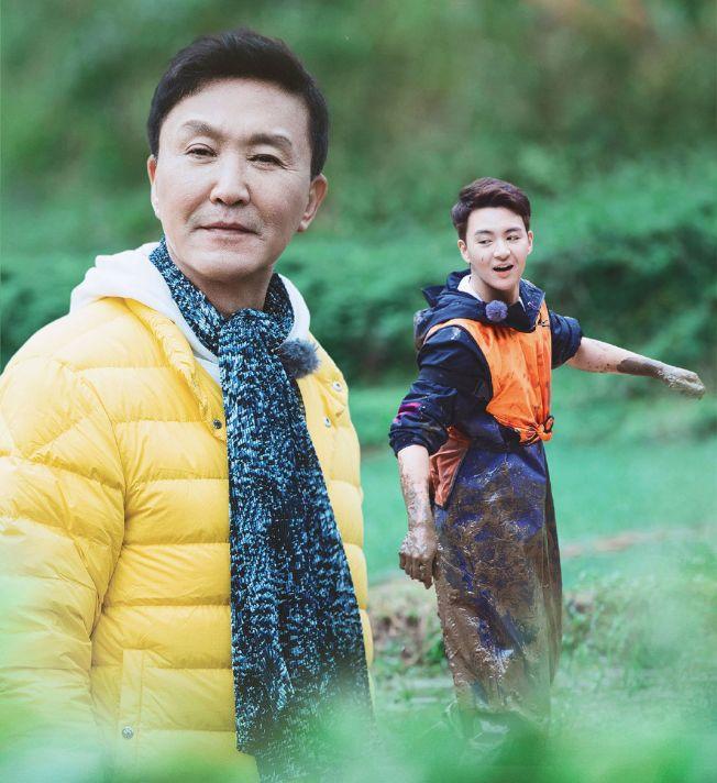 「達康書記」吳剛帶著兒子上真人秀節目。(取材自微博)