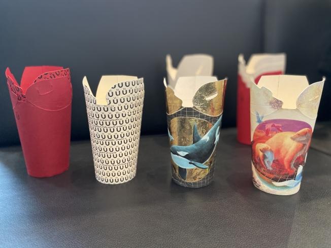 杯身與杯蓋一體化的Unocup。(記者鄭怡嫣/攝影)