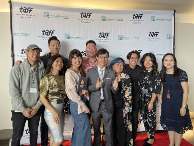 第三屆台美電影節16日在洛杉磯市中心獨立戲院盛大開幕。(記者謝雨珊╱攝影)