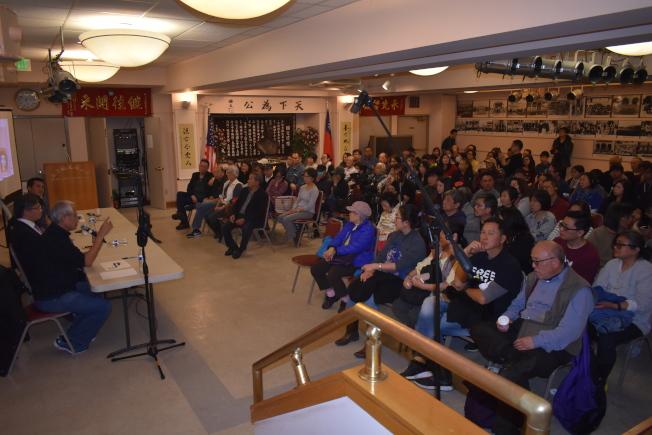 過百人來到金山國父紀念館與來賓交流互動。(本報記者/攝影)