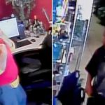 笨賊撬不開收銀機 刀架店員搶劫