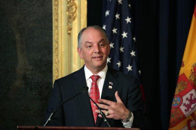 圖為美國現任州長愛德華茲(John Bel Edwards)。 歐新社
