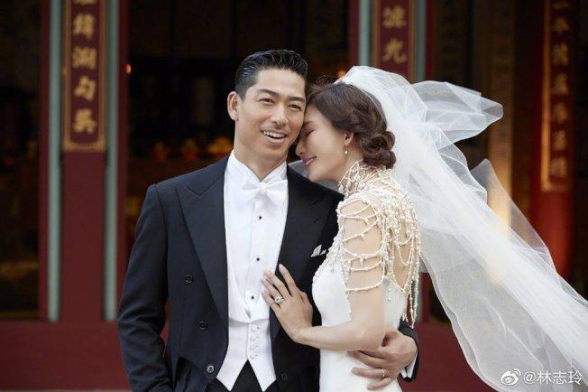 林志玲與丈夫Akira於今日正式補辦婚禮。圖/摘自微博
