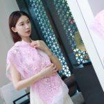 林志玲婚宴送客造型曝光 粉色中式禮服洋溢幸福模樣