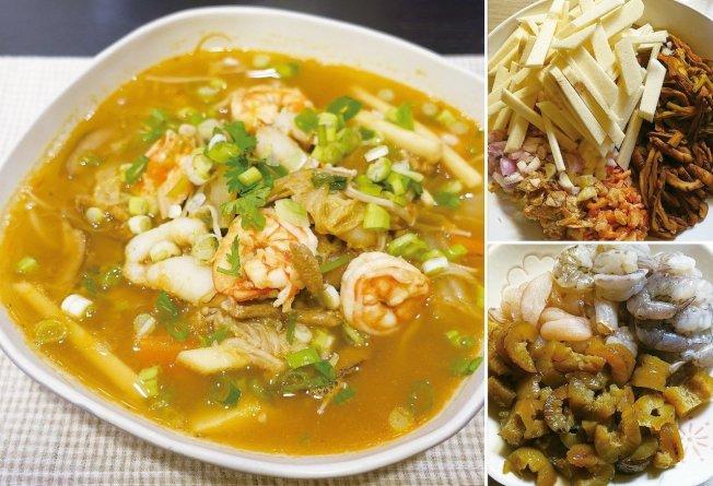海鮮羹是台式辦桌必有的羹湯,料多味美。圖/太陽臉