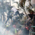 數百人被困理大校園 示威者高呼口號「救學生」