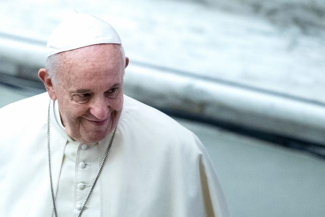 圖為82歲的阿根廷籍教宗方濟各(Pope Francis)19日將搭機前往亞洲。Getty Images