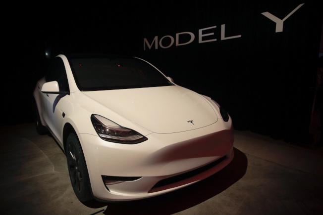 特斯拉Model Y車型和福特野馬Mach-E有望彼此媲美。(美聯社)