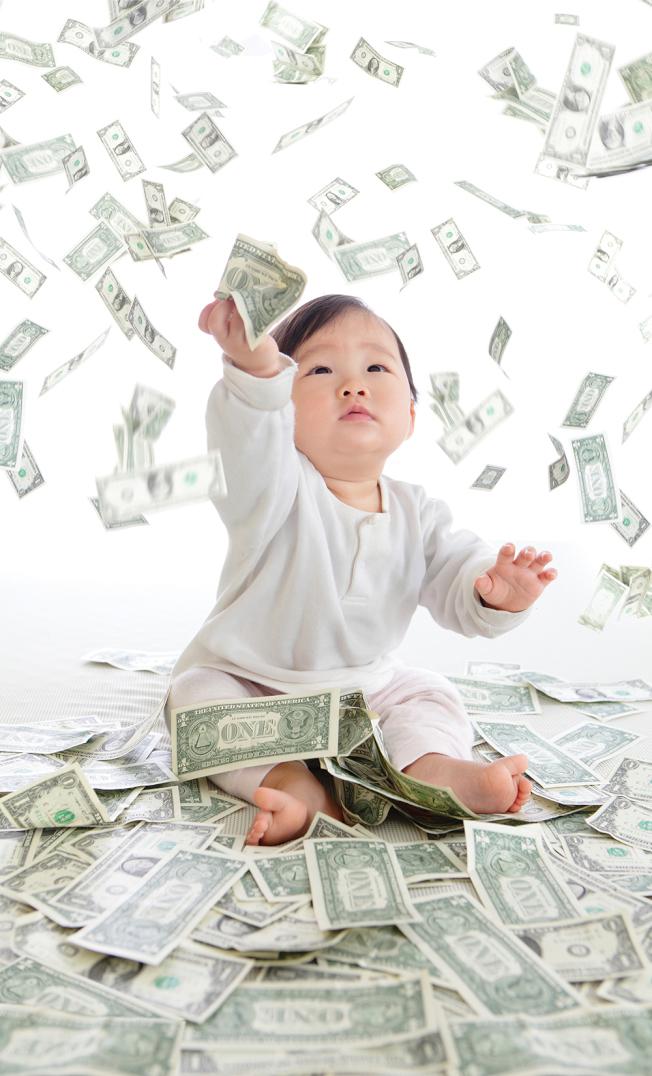 養兒育女是美麗的負擔,五歲以下一年的托兒費超過萬元。(Getty Images)