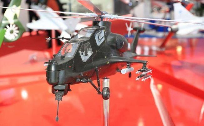 直10ME專用武裝直升機模型。(取材自環球網)