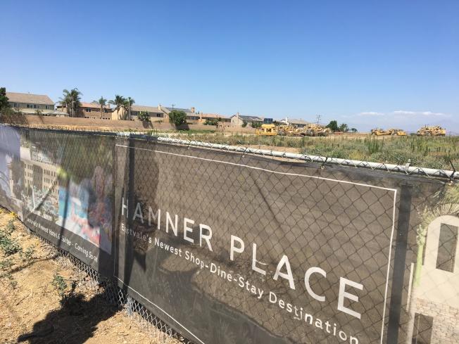 東谷市又一開發項目Hamner Place近日開始施工,集適合玩樂休息一體,為東谷市居民帶來新感受。(記者啟鉻/攝影)