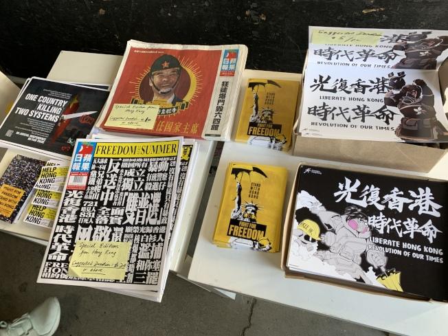 活動現場銷售支持香港商品。(本報記者/攝影)