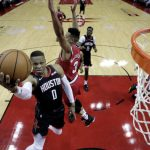 NBA/韋少本季第3度大三元 火箭痛宰拓荒者奪8連勝