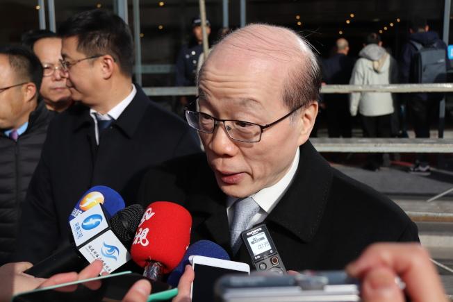 大陸國台辦主任劉結一18日表示,針對加班機一事,希望陸委會「說到做到」。(記者呂佳蓉/攝影)