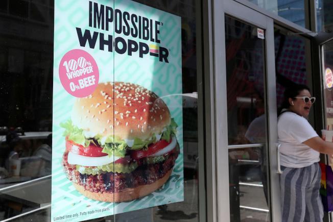 漢堡王連鎖店推出大豆製的素漢堡,卻因葷素漢堡未分開烹調,被顧客告上法院。(路透)