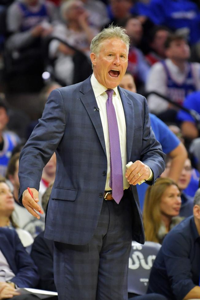 布朗帶領七六人隊,近三年來戰績愈來愈好。(Getty Images)
