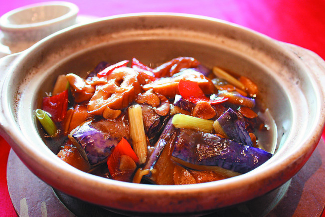 茄子大腸煲。(圖:台灣新莊翰品酒店福明廳提供)