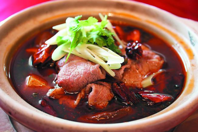 麻辣水煮牛。(圖:台灣新莊翰品酒店福明廳提供)