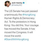 參院通過香港法案 魯比歐預料川普將簽署