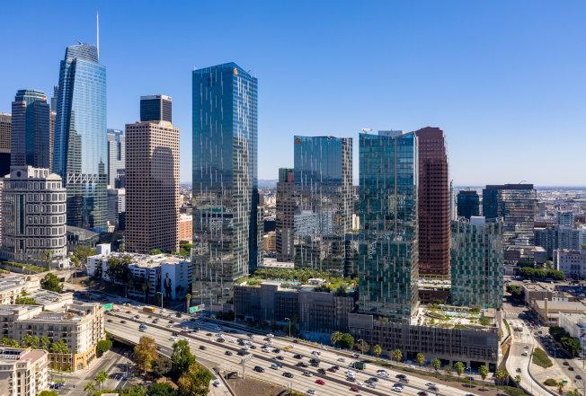 綠地在洛杉磯市區的Metropolis項目。(綠地提供)