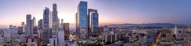 部分華裔千禧世代中意市中心的繁華。圖為洛杉磯市中心。(Perla提供)