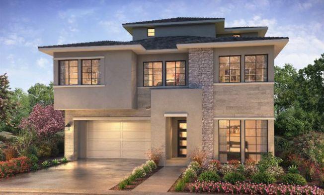 Teresina新社區共有八款獨立住宅,三層樓的設計不但加大室內空間,也充分運用居高臨下的地勢。(建商提供)