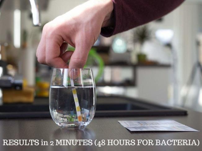 水質測試套裝簡單易行。(取自Amazon網站)