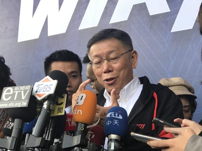 台北市長柯文哲。(記者楊正海/攝影)