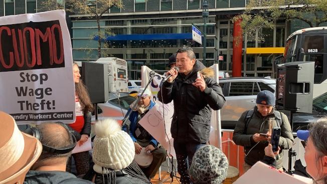 華人職工會的曹錦明表示,很多中餐館工人和業主發生糾紛,告上法院後雖贏得判決,但有些業主卻直接關門,躲避支付賠償金。(記者和釗宇/攝影)