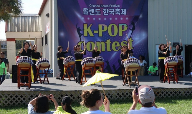 2019第四屆奧蘭多韓國節表演節目之一大鼓。(劉程驥提供)