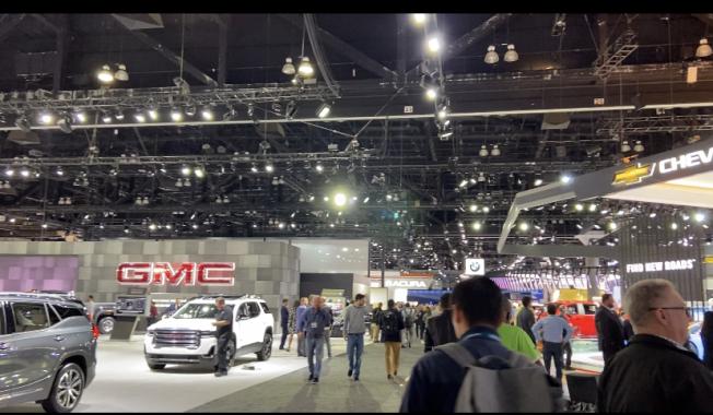 洛杉磯車展將於11月22日起向公眾開放。(記者謝雨珊/攝影)